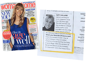 Lyme Cottage in the Press: Women and Home cover